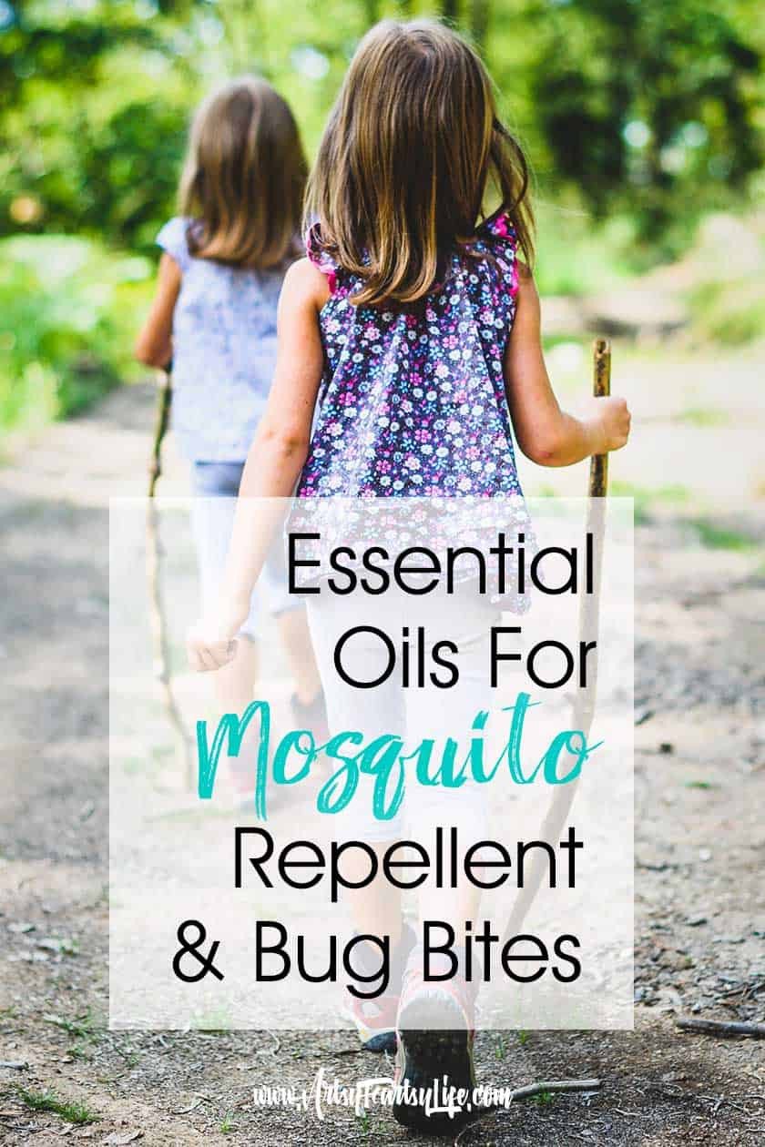 My favorite DIY essential oils recipes for mosquitoes repellent and bug bites spray! I use mine in a roller ball but you could do a spray bottle if you don't like to roll on. Get relief for your kids the natural way! #essentialoils