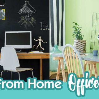 """5 Fun Work From Home Office Ideas... Over the years I have found some things that I absolutely love about my home office (lots of cabinet space or bookshelves) and some things that are """"common wisdom"""" organizing ideas that I hate like getting drawers for filing doesn't work for me because I am visual."""