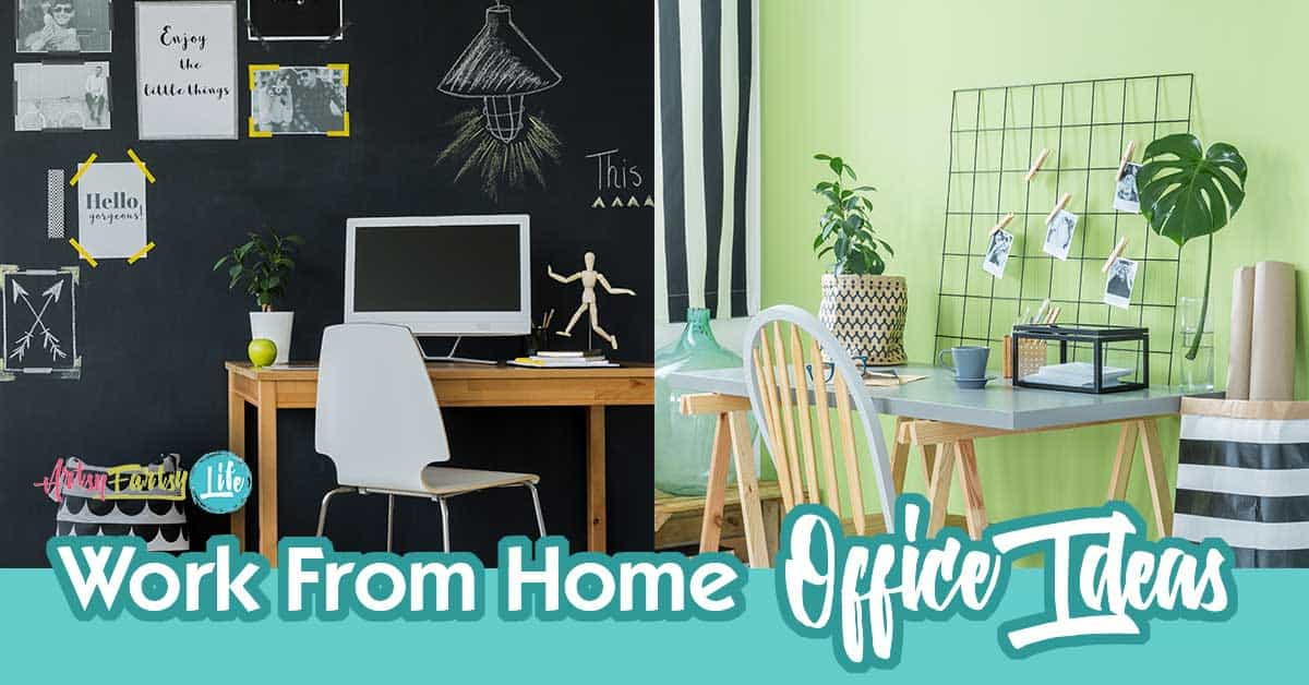 5 fun work from home office ideas | artsy fartsy life