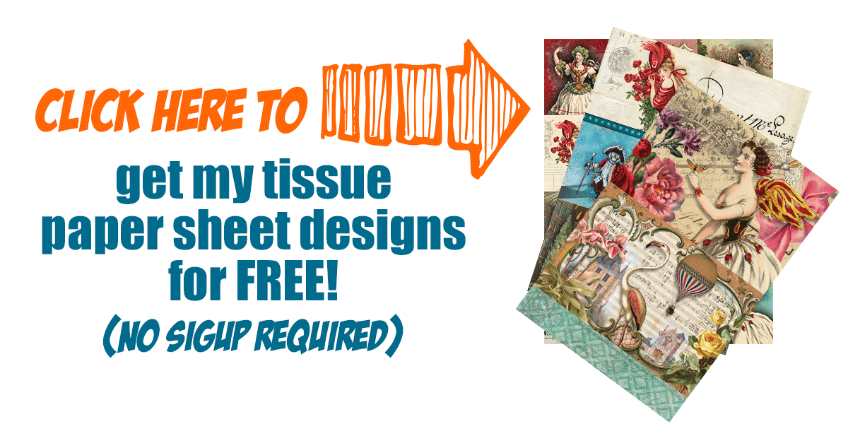 Get my tissue paper sheet designs for free!