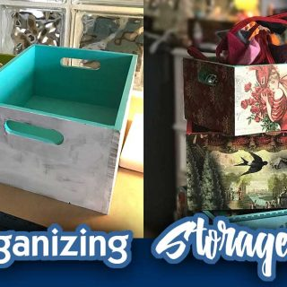 DIY Storage Ideas For Organizing – Decoupage Boxes