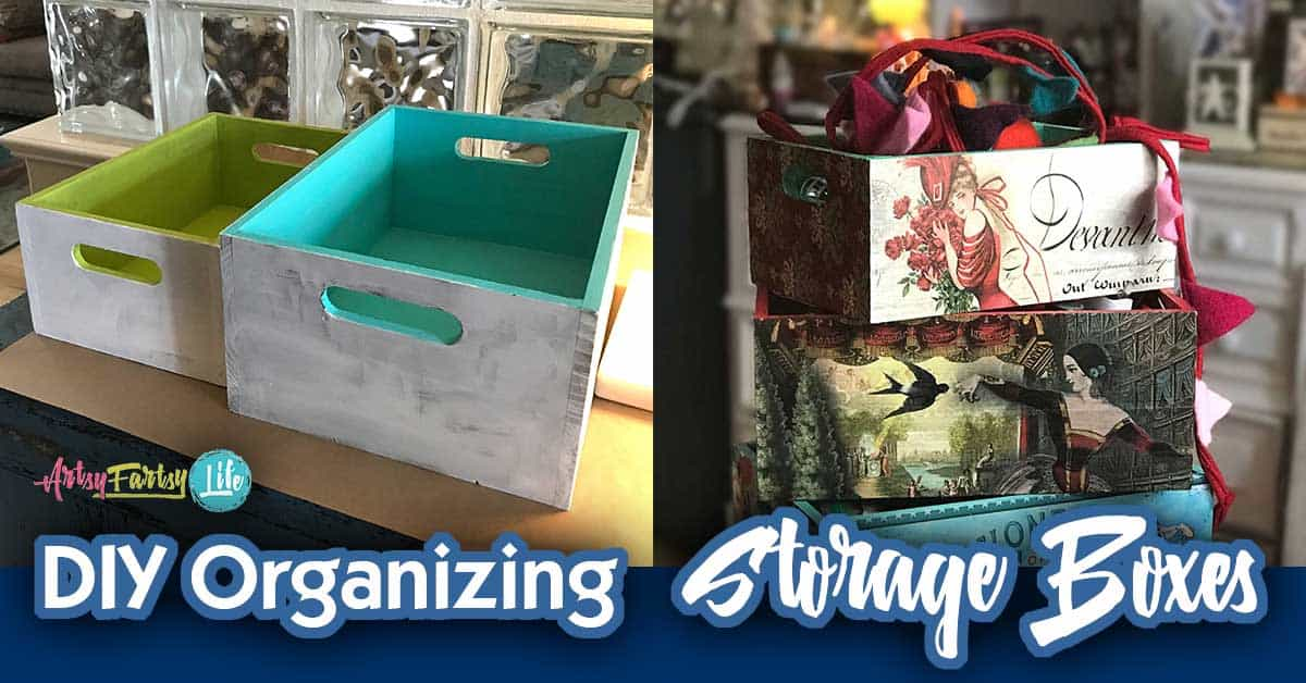 DIY Storage Ideas Organizing Boxes