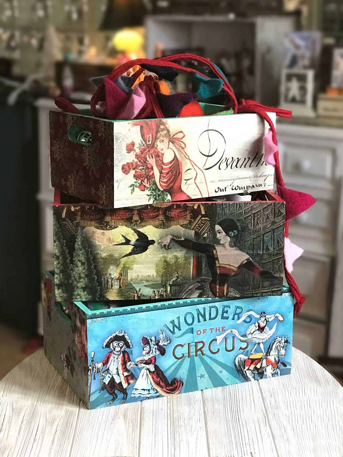 DIY Storage Boxes - My finished product! Read the whole process that I went through to do these including products and supplies I used! They turned out amazing... I LOVE them!