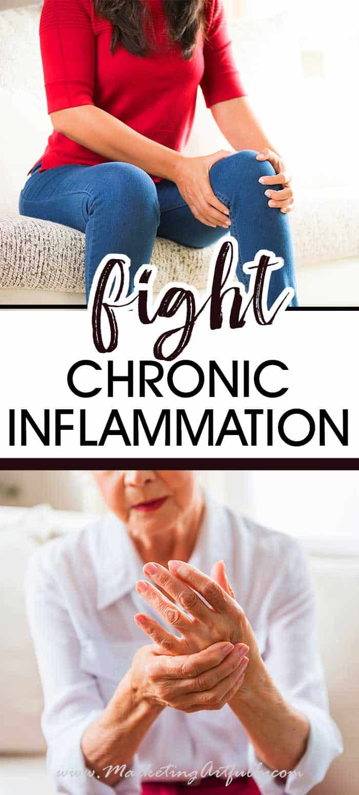 How To Fight Chronic Inflammation With Essential Oils... As someone who suffers from inflammation, I KNOW how insidious the pain is and how it can travel around your body, causing aches and pain everywhere. I hate having to take pill after pill to fight the aches and pain and was thrilled to find out that essential oils could help lessen both inflammation and pain. #essentialoils #pain #arthritis