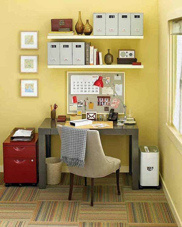 Martha Stewart Yellow Home Office