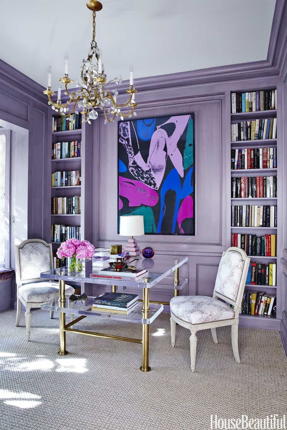 Purple Home Office - House Beautiful