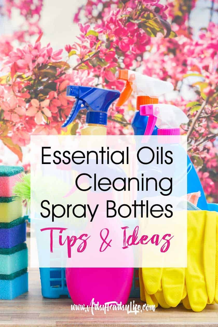 Natural Essential Oils Cleaning Spray Bottle, Tips and Recipes… All the best tips and recipes for grease fighting essential oils, germ fighting and general cleaning sprays. Avoid toxic chemicals like the ones that are in Windex and Clorox. Because I am allergic to so many things, using gentle but effective cleaners like these truly helps my quality of life!