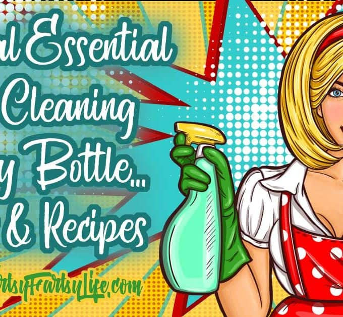 Natural Essential Oils Cleaning Spray Bottle... Tips and Recipes...