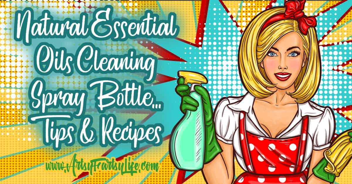 Natural Essential Oils Cleaning Spray Bottle Tips and Recipes... All the best tips and recipes for grease fighting essential oils, germ fighting and general cleaning sprays. Avoid toxic chemicals like the ones that are in Windex and Clorox. Because I am allergic to so many things, using gentle but effective cleaners like these truly helps my quality of life!