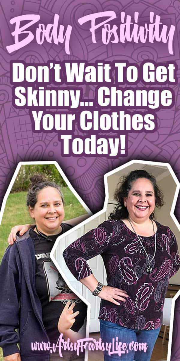 Don't Wait To Get Skinny, Find Outfits That Look Good On Your Body Now! I have been struggling with body positivity now that I am over 50. Being a curvy woman, it is easy to think that I should be using frumpy clothes to cover my fat body. An over 50 shorts outfit and article about how to love yourself and the body you are in now. #selfconfidence #over50