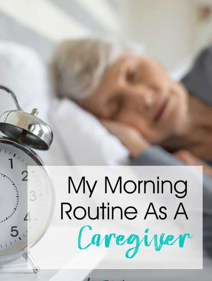 My morning routine as a caregiver. I have always been a routine gal, but now what my mother-in-law with Alzheimer's has moved in, we are even more regimented than ever! Wrangling kids, cats, dogs and Mom makes for fun time in the morning. Includes tips and ideas for setting up your morning routine!