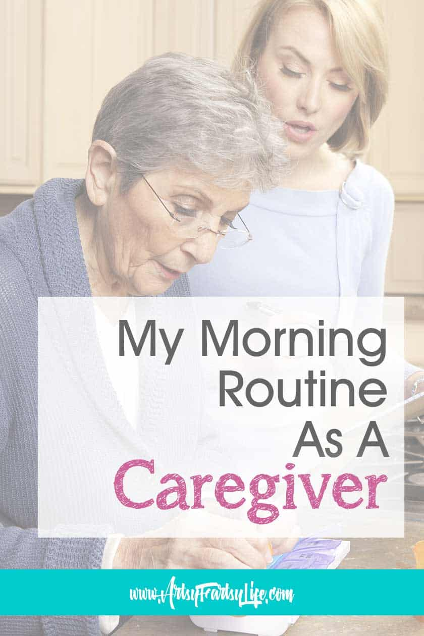 My Morning Routine As A Dementia and Alzheimers Caregiver... I have always been a routine gal, but now what my mother-in-law with Alzheimer's has moved in, we are even more regimented than ever! Wrangling kids, cats, dogs and Mom makes for fun time in the morning. Includes tips and ideas for setting up your morning routine!