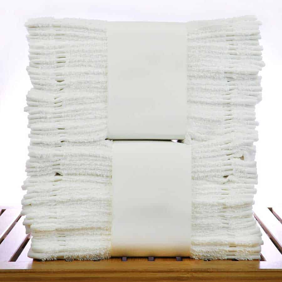 Disposable White Washcloths
