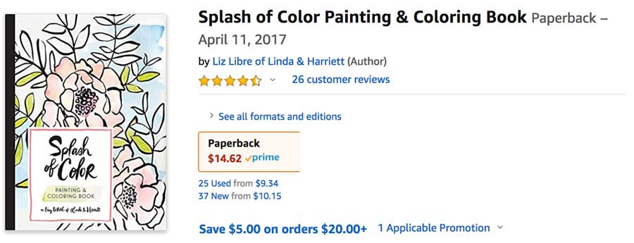 Splash of Color Paint Book