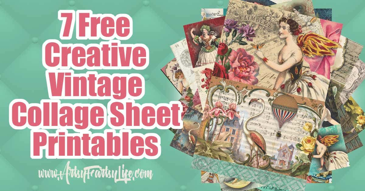 photograph relating to Printable Tissue Paper called 7 No cost Artistic Collage Sheet Printables For Decoupage