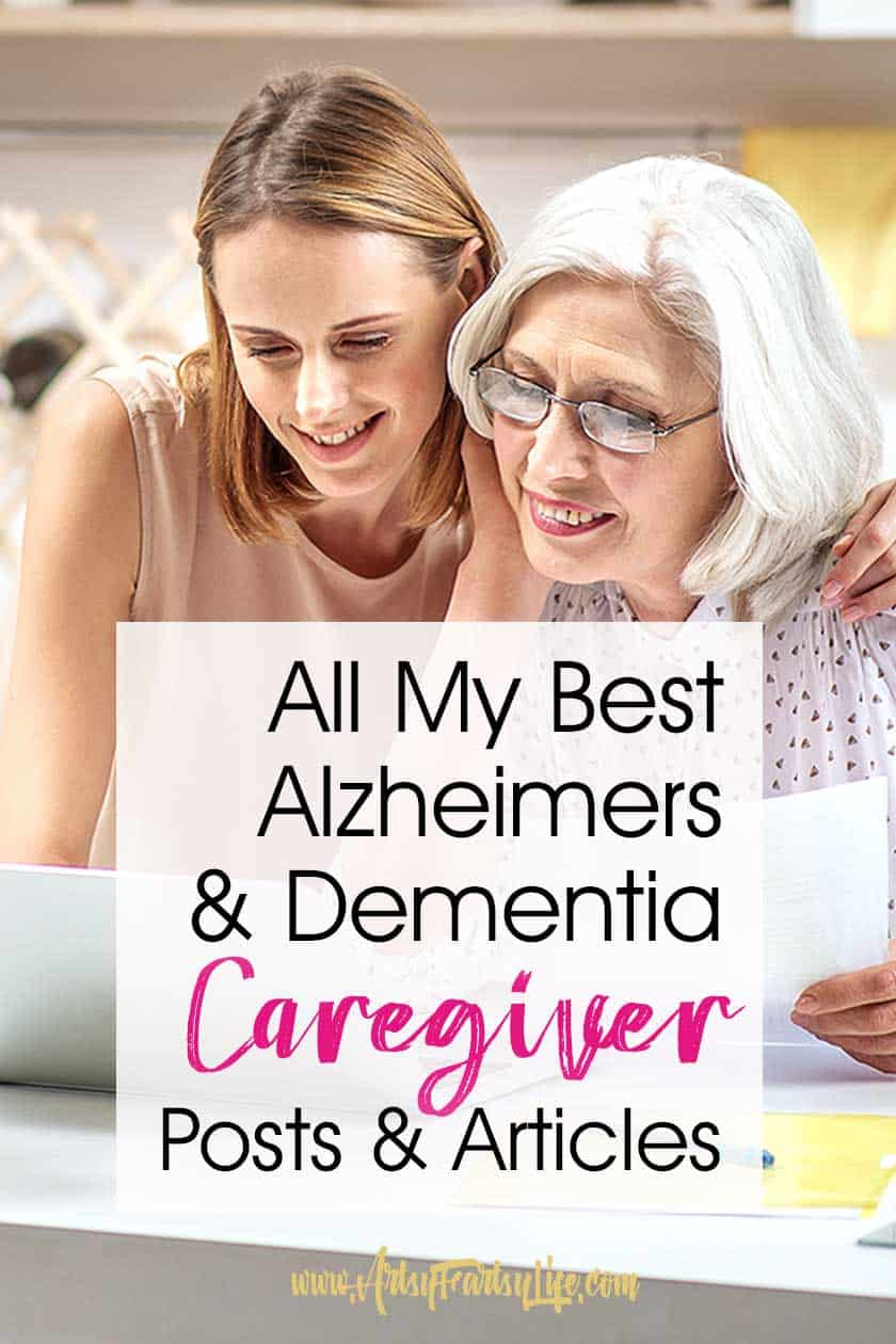 All My Best Alzheimer and Dementia Caregiver Posts and Ideas.... Aging parents tips and ideas for caregivers. I take care of Mom and have learned so much for caring for elderly loved ones at home or when she is in the nursing home.
