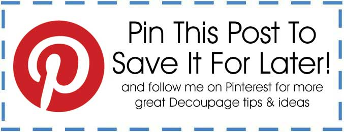Decoupage Pin This For Later Button