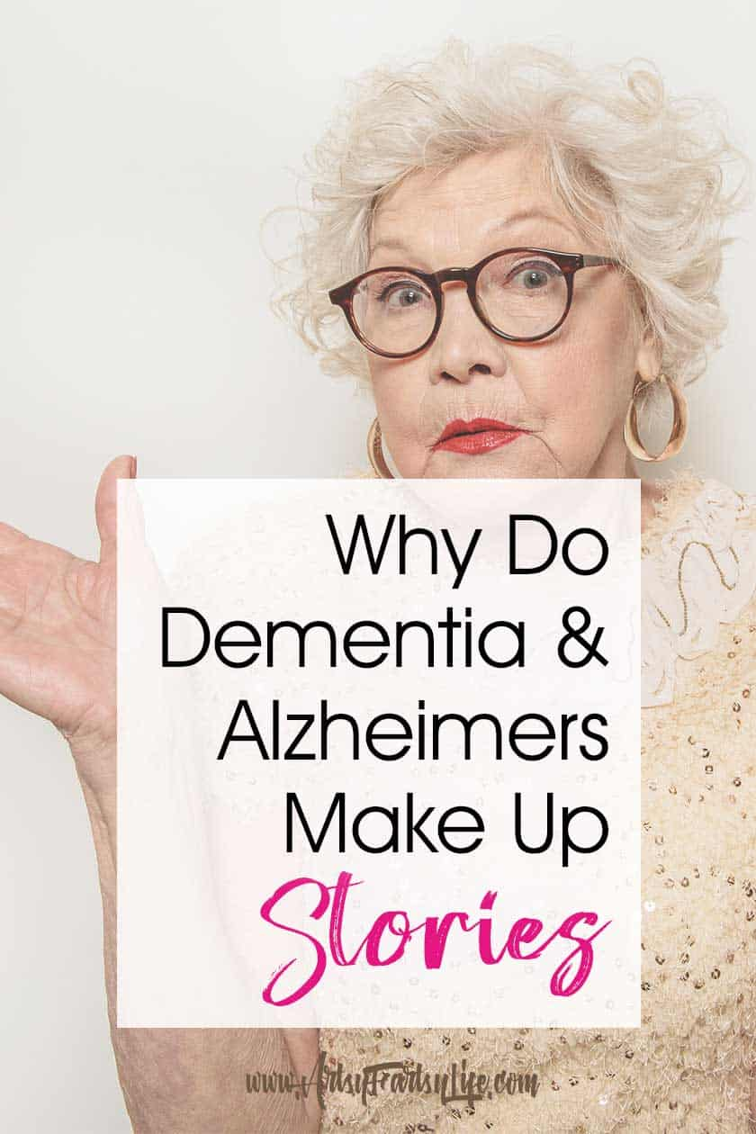 Why Do Dementia and Alzheimers People Make Up Stories? Today we are going talk about confabulation, delusions and hallucinations in dementia and Alzheimers and why our loved ones lie. PLUS tips and ideas for how to protect them and ourselves as caregivers when these stories get out of control.  #alzheimers #dementia