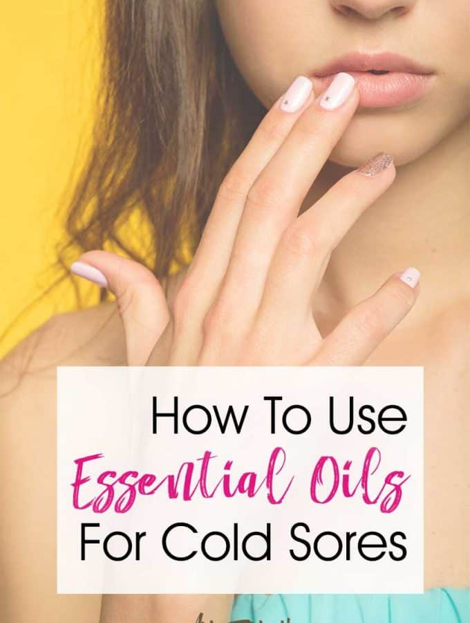 Essential Oils For Cold Sores… Essential oils are great to use on your lip at the first tingle from a cold sore! This treatment for herpes or can help reduce the time it takes for cold sores to run their course. A healthy remedy for fever blisters.