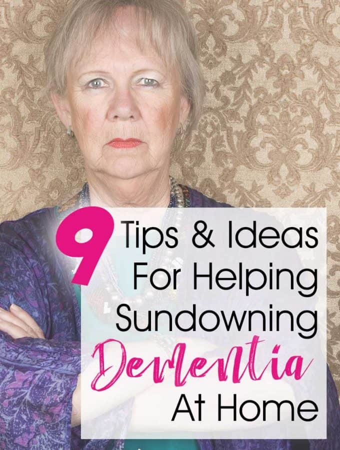 "9 Tips and Ideas For Sundowning Dementia At Home... Some dementia and Alzheimers patients experience ""sundowning"" in the evening. Here are 9 natural tips and ideas to help caregivers deal with your loved one's sundowners syndrome when they live in your home. While it is never fun to see your loved one confused and scared, there are some concrete things we can do to help! #dementia #alzheimers #caregiving"