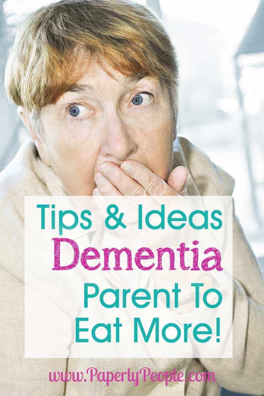 Tips and Ideas To Get Your Alzheimers or Dementia Parent To Eat... There is nothing more shocking as a caregiver to watch than your Alzhemier or dementia parent losing weight and refusing eat. Here are my top tips and ideas for strategies you can try to get some calories into their diet! #alzheimers #dementia #dementiadiet