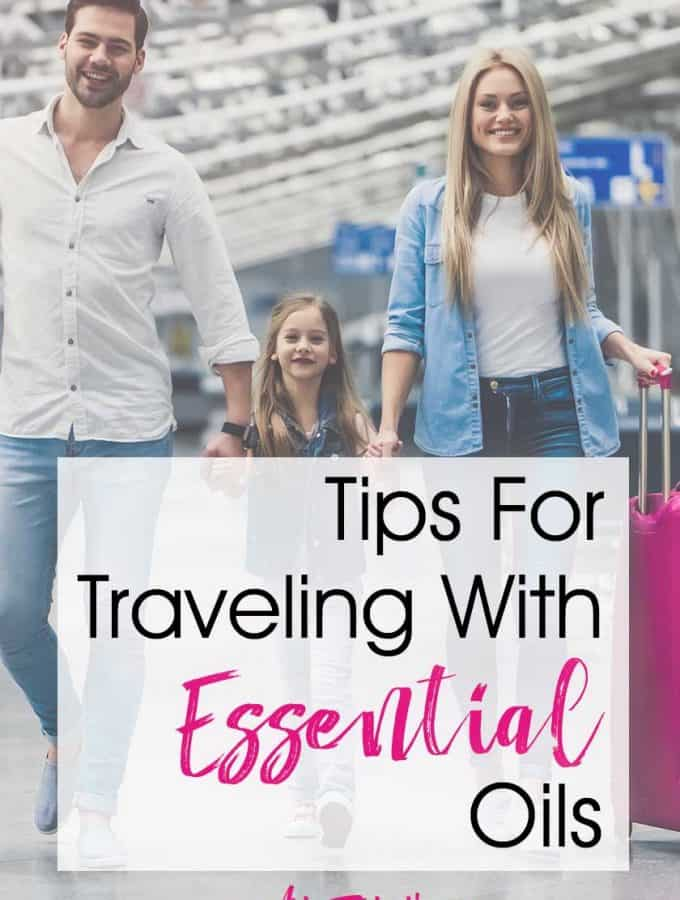 Tips & Ideas For Traveling With Essential Oils... Make sure you can take essential oils safely when you travel. Includes bag and kit cases, and authorized travel case recommendations. Travel tips for kids, nausea, motion sickness and more! #traveltips #essentialoils #familytrip