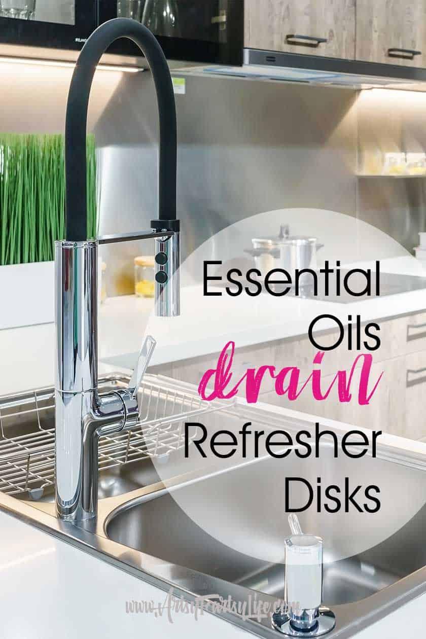 Essential Oils Kitchen Drain Refresher Disks