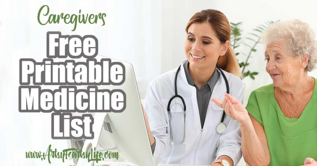Free Printable Medicine List for Caregivers