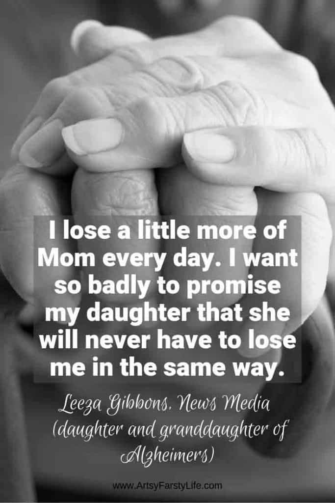 Leeza Gibbons Quote - I lose a little more of mom everyday