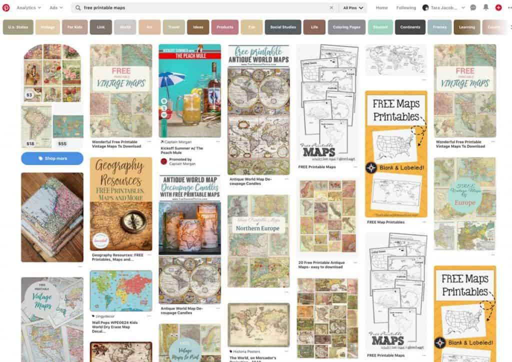 free printables search on Pinterest