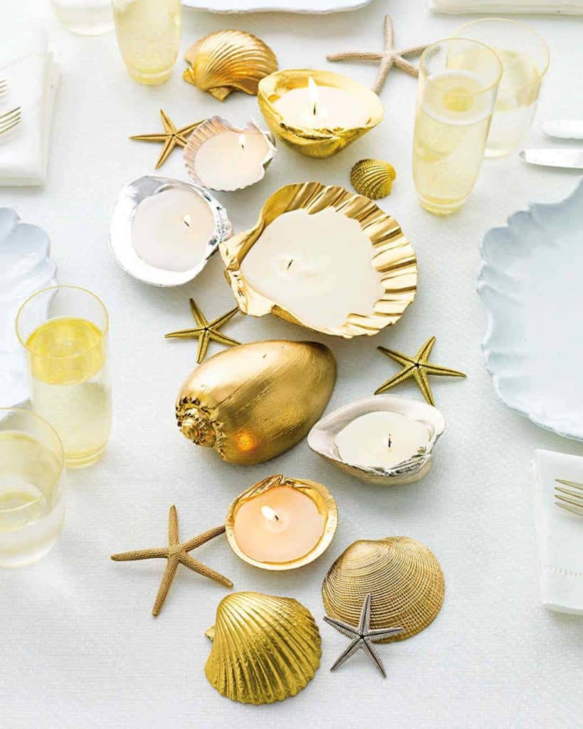 martha stewart seashell centerpiece