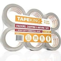 Tape King Clear Packing Tape - 60 Yards Per Roll (6 Refill Rolls)