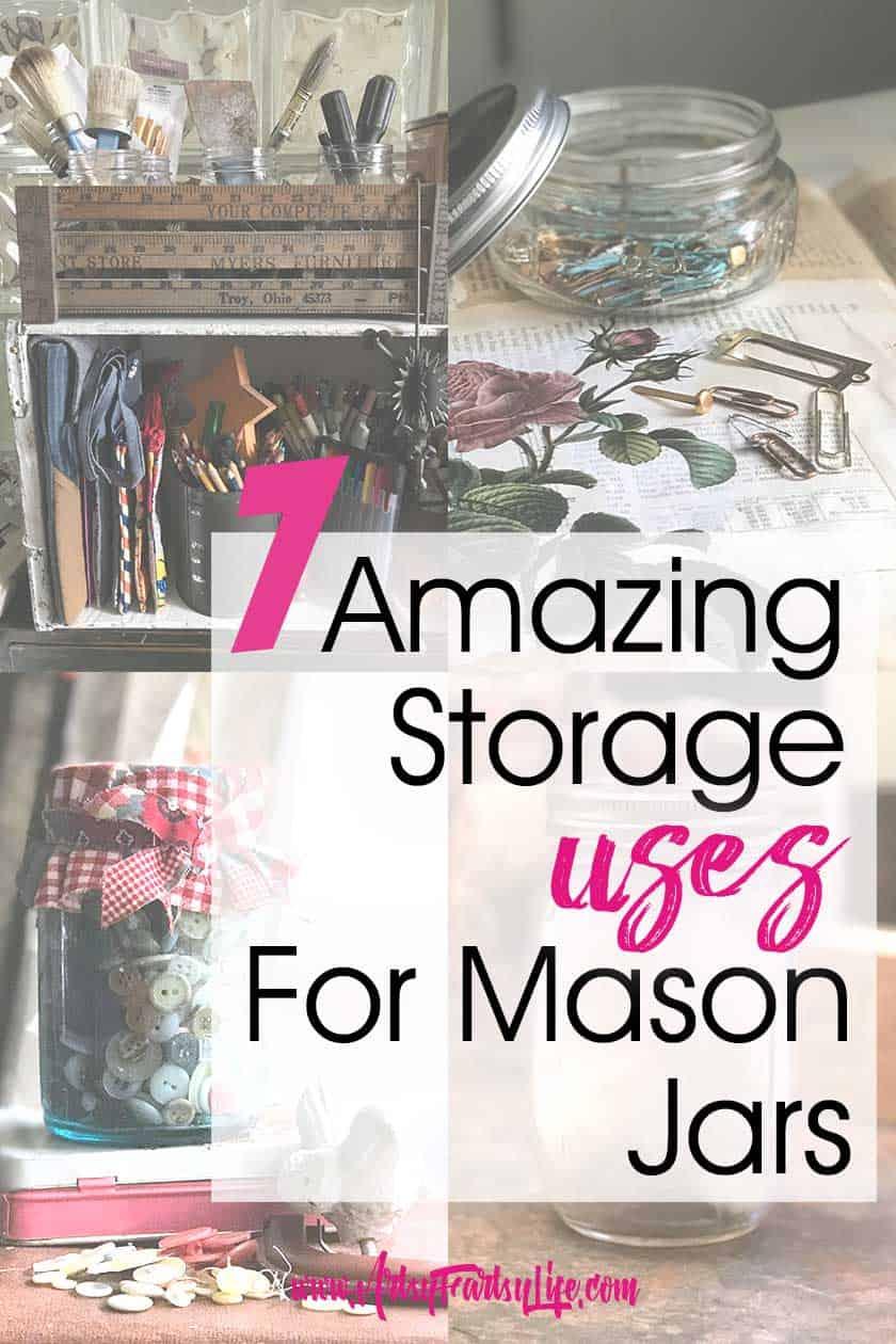7 Amazing Storage Uses For Mason Jars