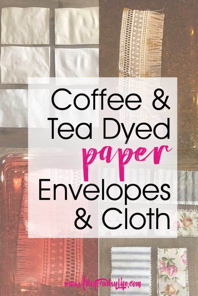 Coffee and Tea Dyed Paper and Cloth Ideas