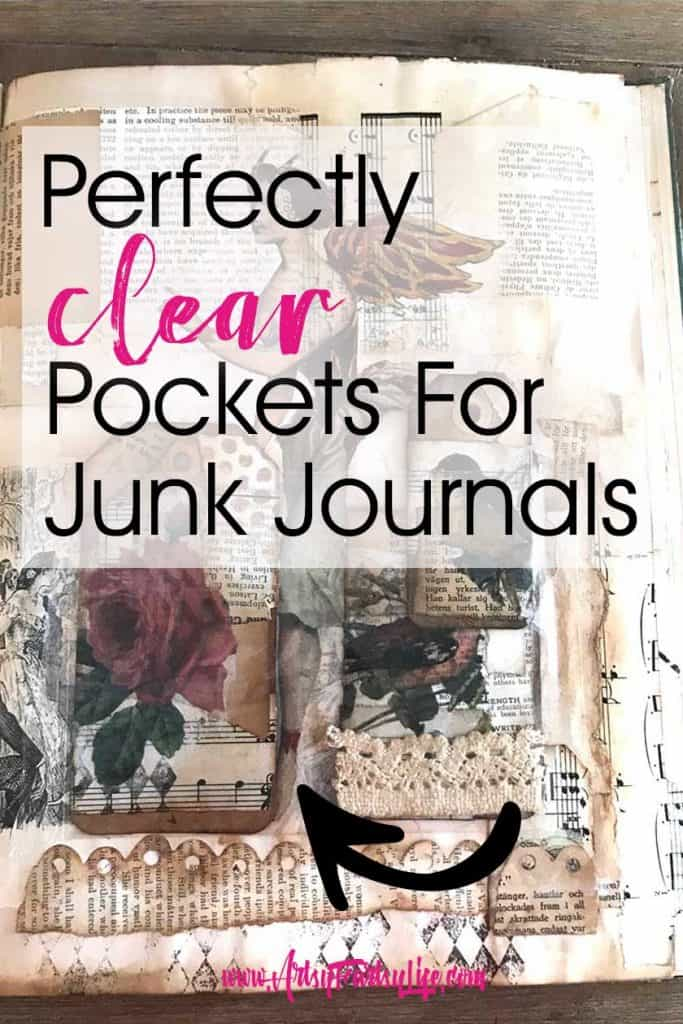 Self Laminating Sheets - How To Make Clear Pockets For Junk Journals or Altered Books