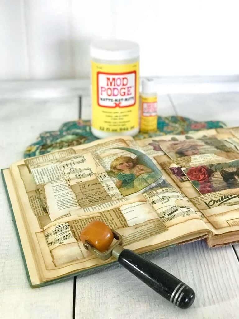 Vintage wallpaper roller.