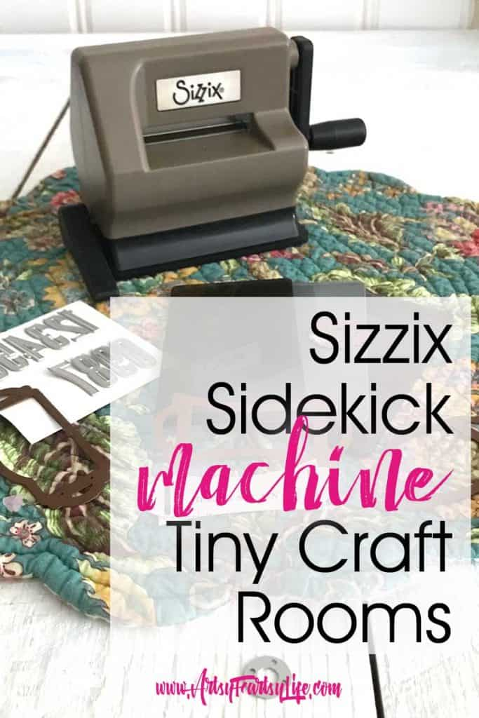 Looking for the scoop on Sizzix Sidekick ideas? Here are my best tips for picking your next small die cutting and embossing machine. Great for scrapbooking, journalling or you altered books when you have a small craft room! #craftroom #papercrafts