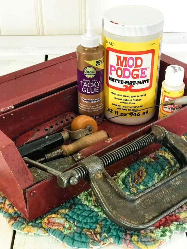 Vintage craft tools for adult crafts.