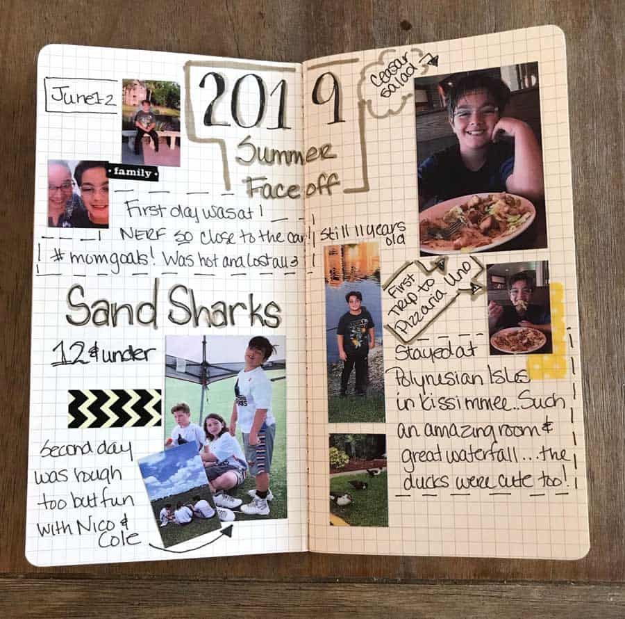 Sprocket pictures in my travelers notebook
