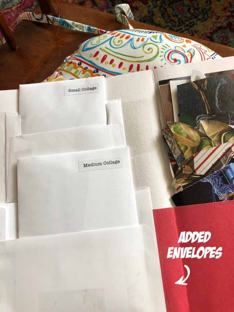Added envelopes for small ephemera pieces.