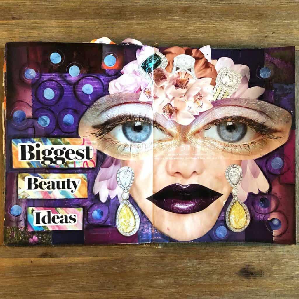 Biggest beauty ideas, mixed media piece, Tara Jacobsen