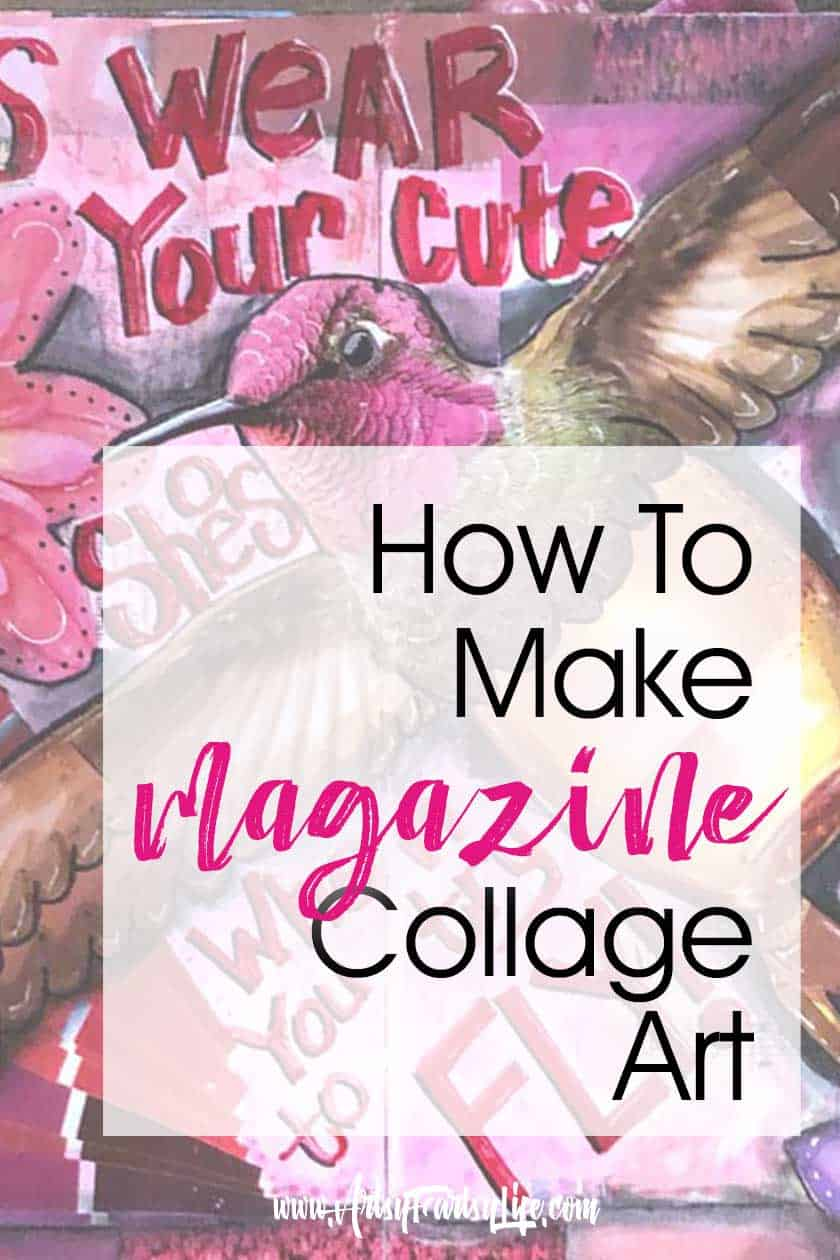 If you have ever wondered how to make one of those cool pieces of art using magazine clippings, this is the post for you! Tips, ideas and inspiration for using cutout images to make neat combined artwork.