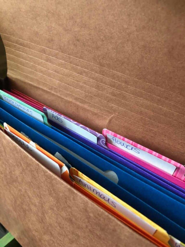 Use sticky notes to plan out your tabs for your ephemera folio. #junkjournal #organizing