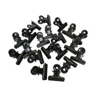 Metal Bulldog Clips, 1.25 Inches, Pack of 20 (Black)