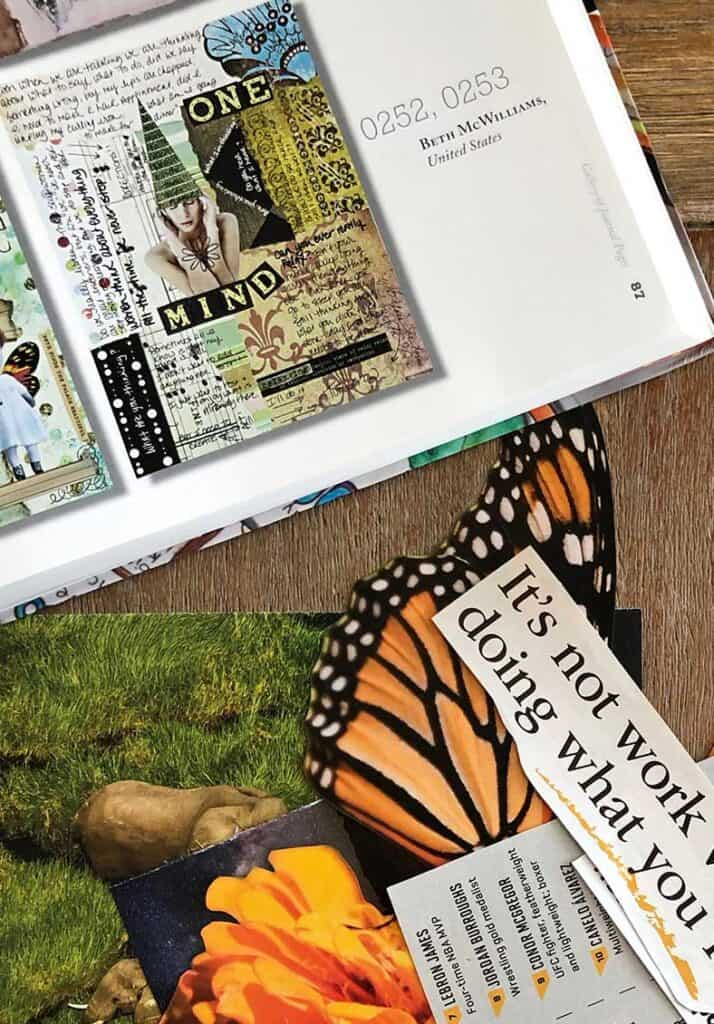 Beth McWilliams Inspiration Piece - Magazine Collage cutout pages