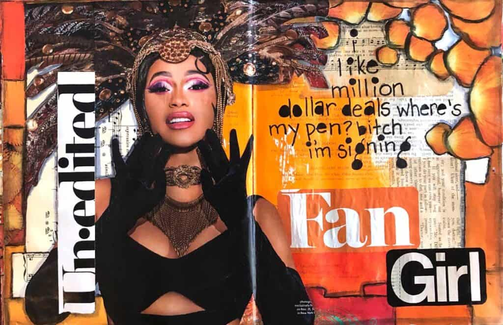 "I found this cool picture of Cardi B in a magazine and loved it! She is strong and independent. The quote is from her song ""I Like It"" (watch out there is some language, well a LOT of language!) But that song makes me feel like I am on vacation!"