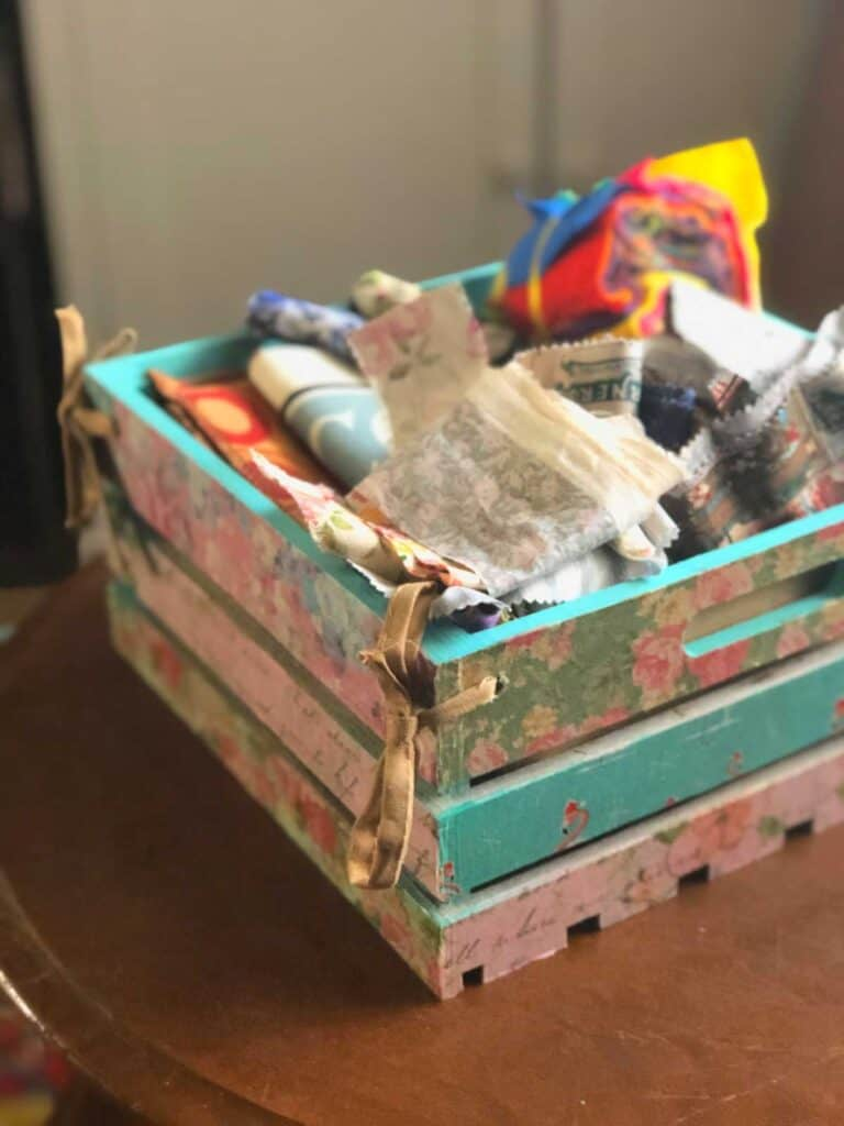 My fabric box! Using the container method from A Slob Comes Clean