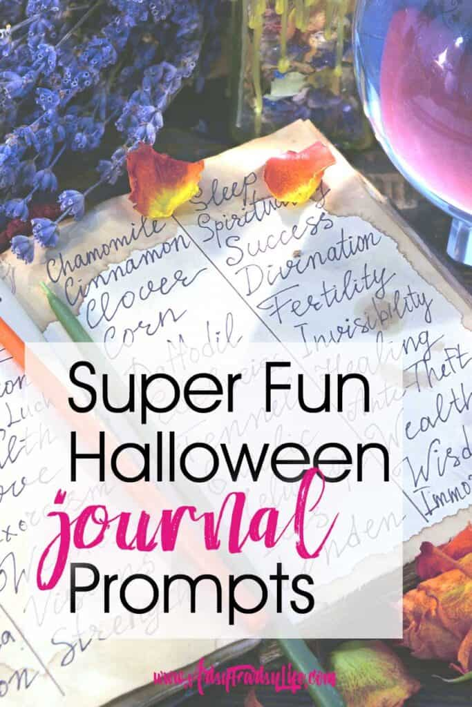 Halloween Journal Prompts for Written Journal and Mixed Media