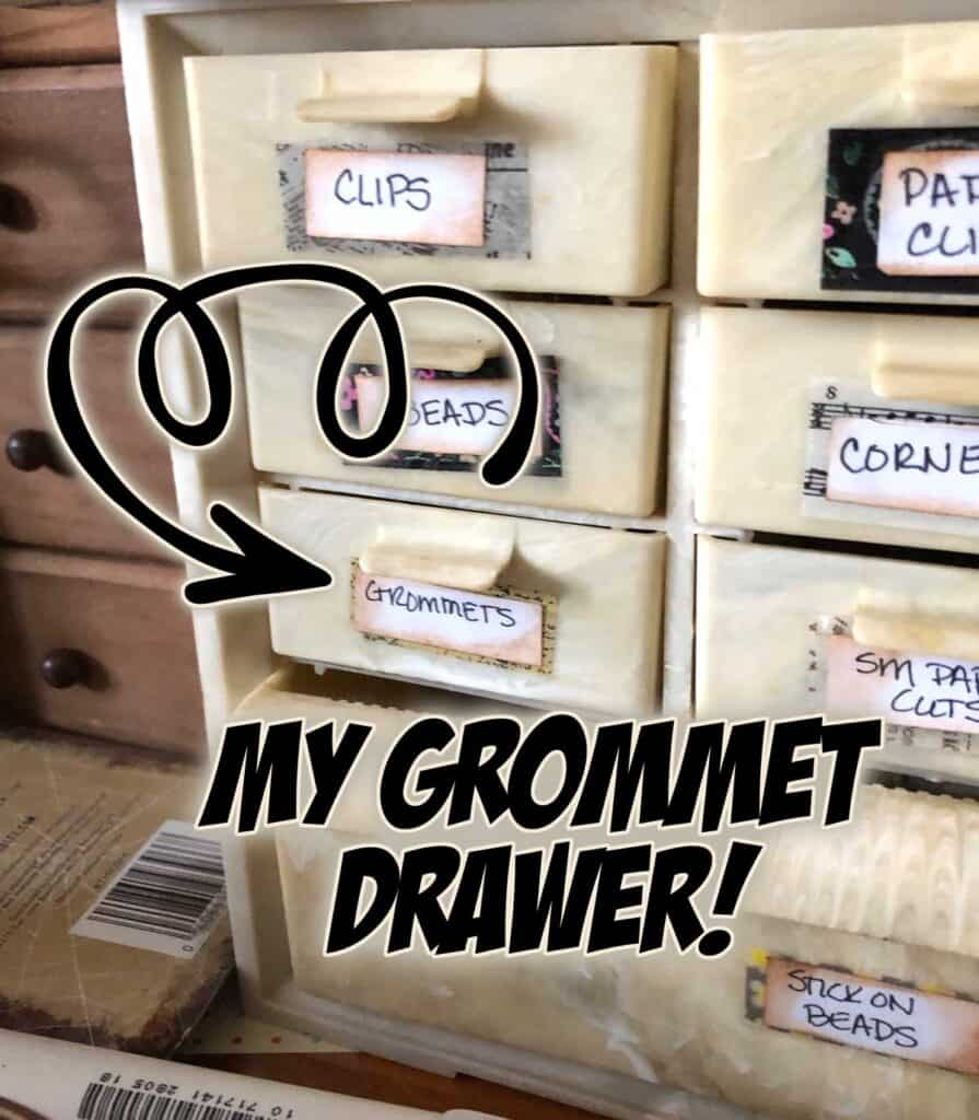 My grommet drawer - Craft room cleaning