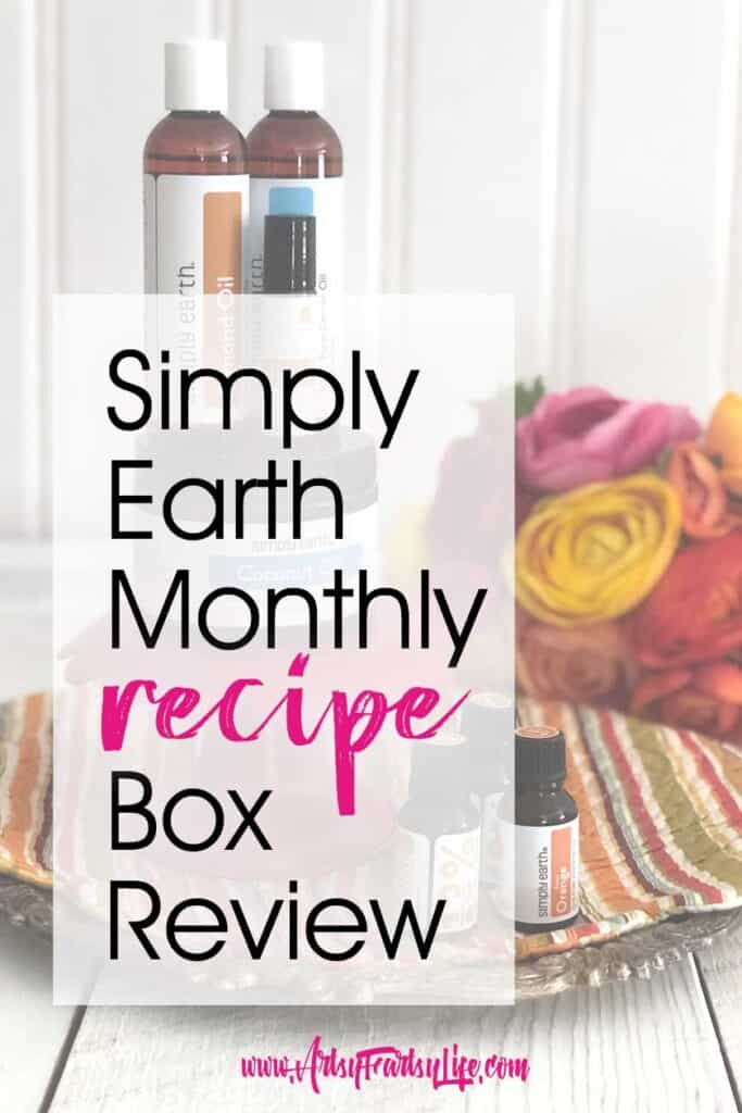 I was so excited to be asked to review the Simply Earth essential oils recipe box! Each month you get a number of different essential oils to make special blends, and then projects to make like lip balm and soy candles!